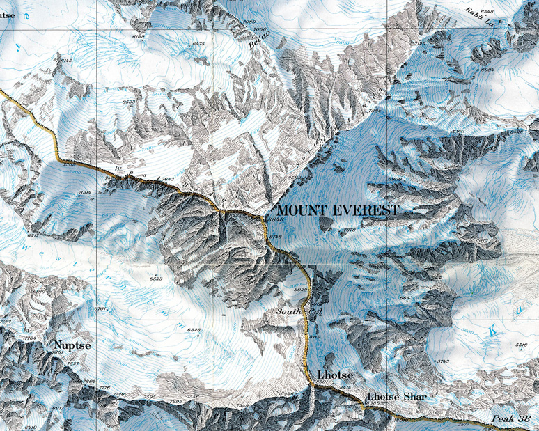Mount Everest Map