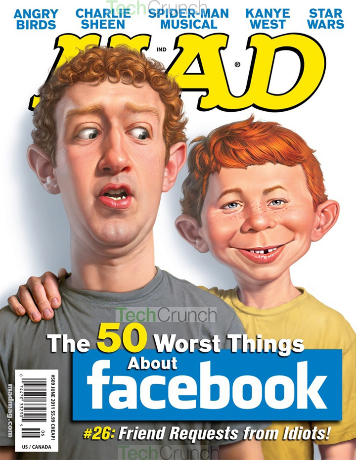 Mark Zuckerberg Mad Cover